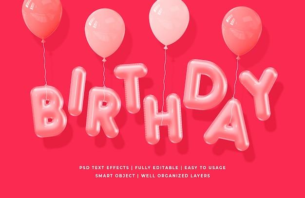Verjaardag 3d tekststijl effect Premium Psd