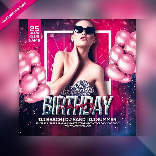 Verjaardagsfeest flyer Premium Psd