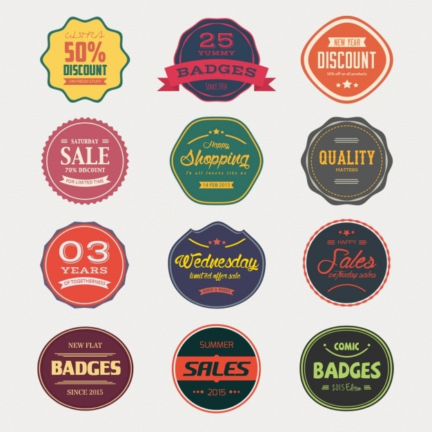 Verkoop badges collectie Gratis Psd
