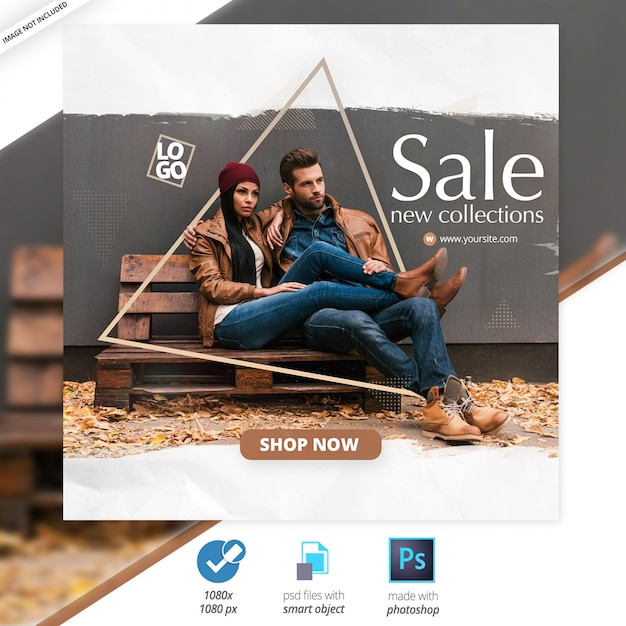 Verkoop social media web banners Premium Psd