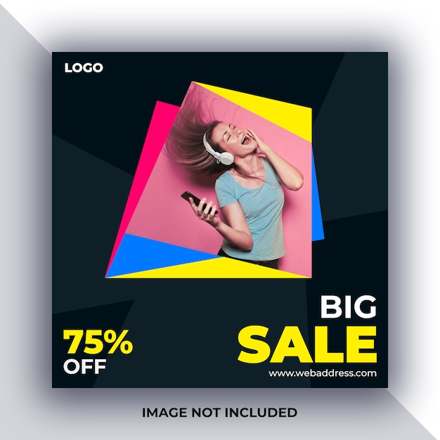 Verkoop sociale media bericht banner Premium Psd