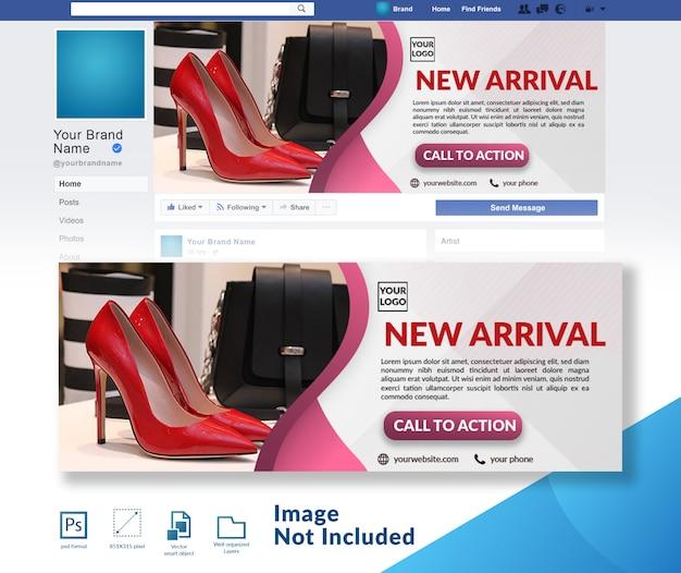 Verkoop winkelen facebook voorbladsjabloon Premium Psd