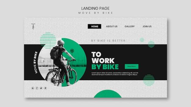 Verplaats per fietslandingspagina Gratis Psd