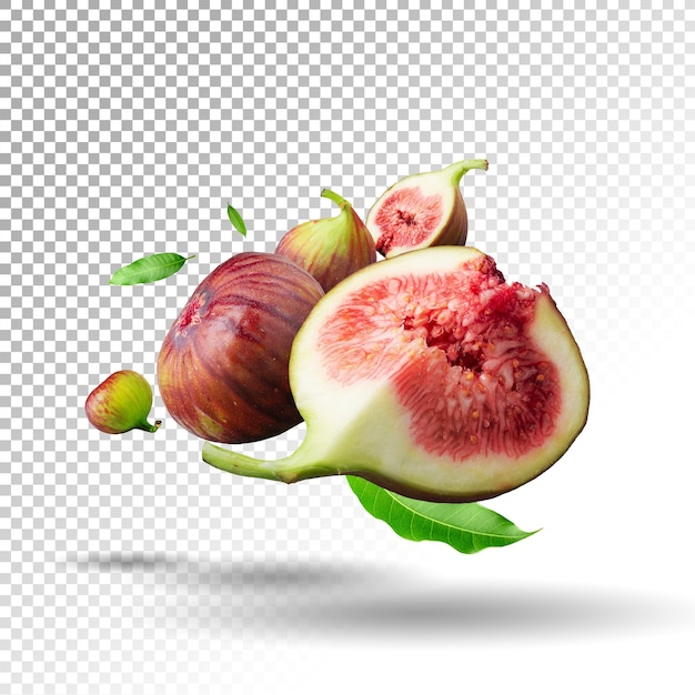 Vers geïsoleerd vijgenfruit Premium Psd