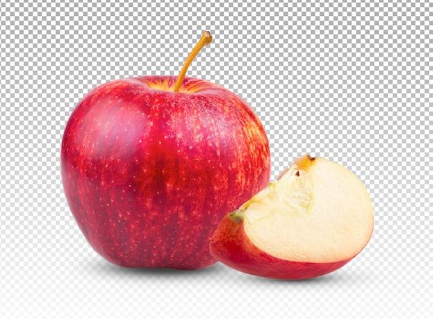 Verse rode appel geïsoleerd Premium Psd