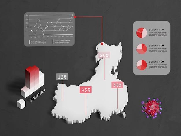 Verspreiding van coronaviruskaart china Gratis Psd