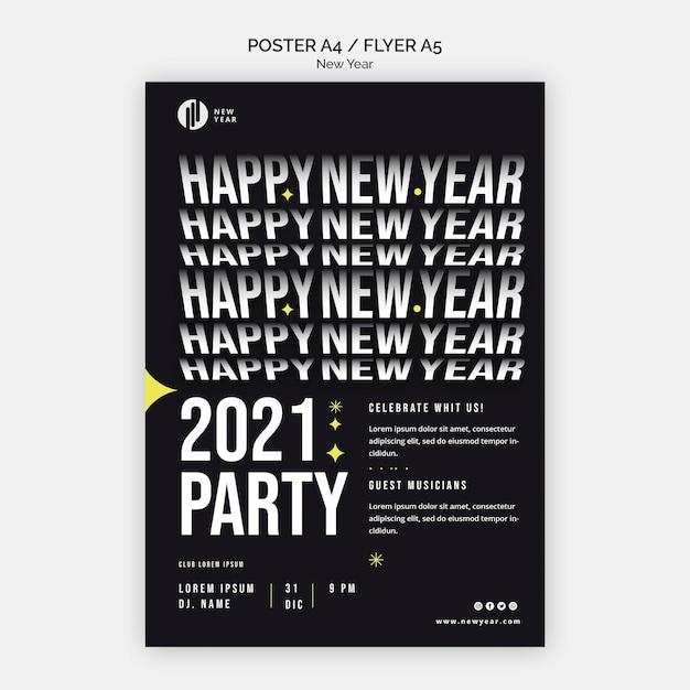 Verticale flyer voor nieuwjaarsfeest Gratis Psd