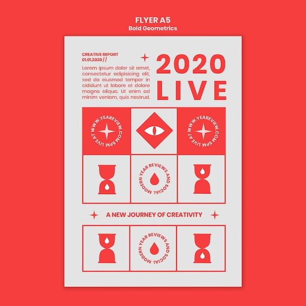 Verticale flyer voor nieuwjaarsoverzicht en trends Gratis Psd