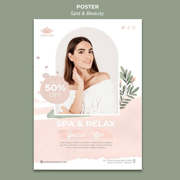 Verticale poster sjabloon voor spa en ontspanning Gratis Psd