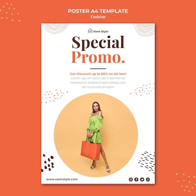 Verticale poster voor modewinkel Gratis Psd
