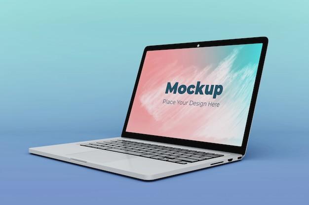 Verwisselbare laptop scherm mockup ontwerpsjabloon Premium Psd