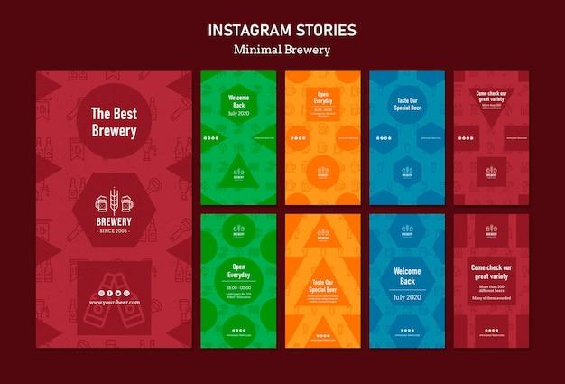 Verzameling van instagram-verhalen voor bierproeverijen Gratis Psd