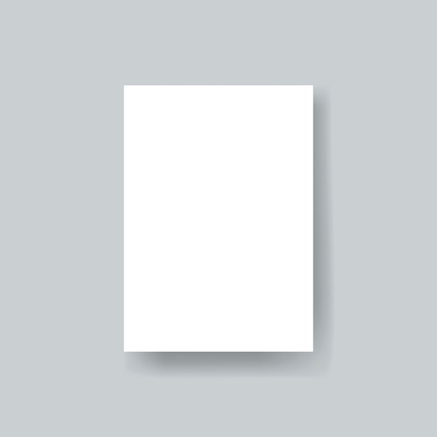 Vettore di mockup del modello di brochure di carta bianca Psd Gratuite
