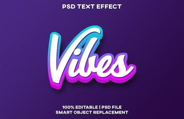 Vibes text effect PSD Premium