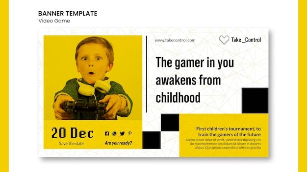 Video game conceptontwerp banner sjabloon Gratis Psd