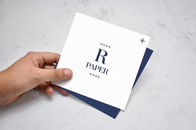 Vierkant brochure mockup Premium Psd