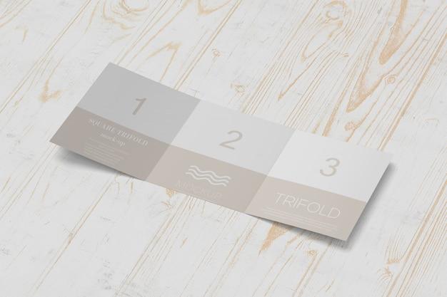 Vierkant drieluik brochure mockup Premium Psd