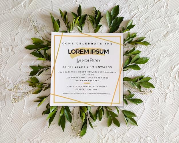 Vierkant evenement uitnodiging / flyer / poster mockup Premium Psd