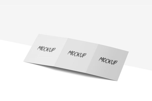 Vierkant gevouwen brochure mockup gratis psd Premium Psd