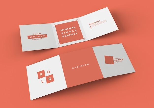 Vierkant gevouwen brochuremodel Premium Psd