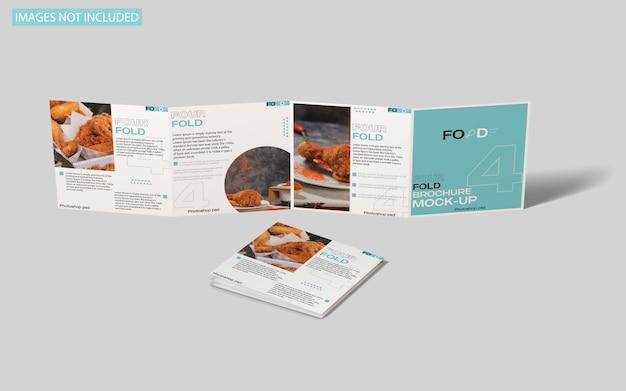 Vierkant viervoudig brochuremodel Premium Psd