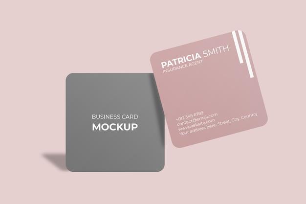 Vierkant visitekaartje met afgeronde hoeken Premium Psd