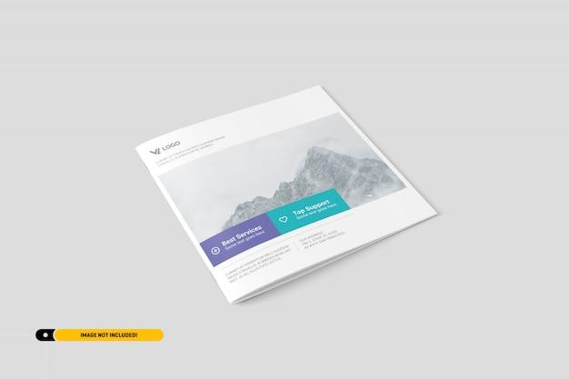 Vierkante brochure mockup Premium Psd