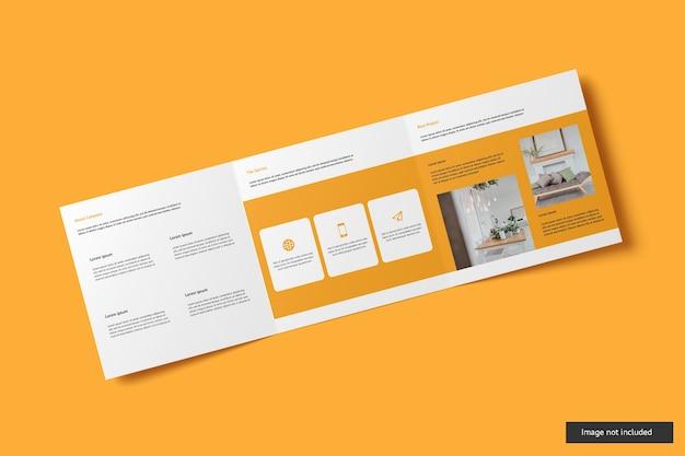 Vierkante driebladige brochure mockup Premium Psd