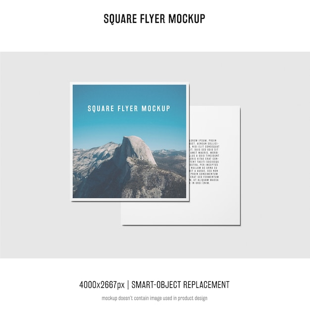 Vierkante folder, wenskaart, uitnodigingsmodel Gratis Psd