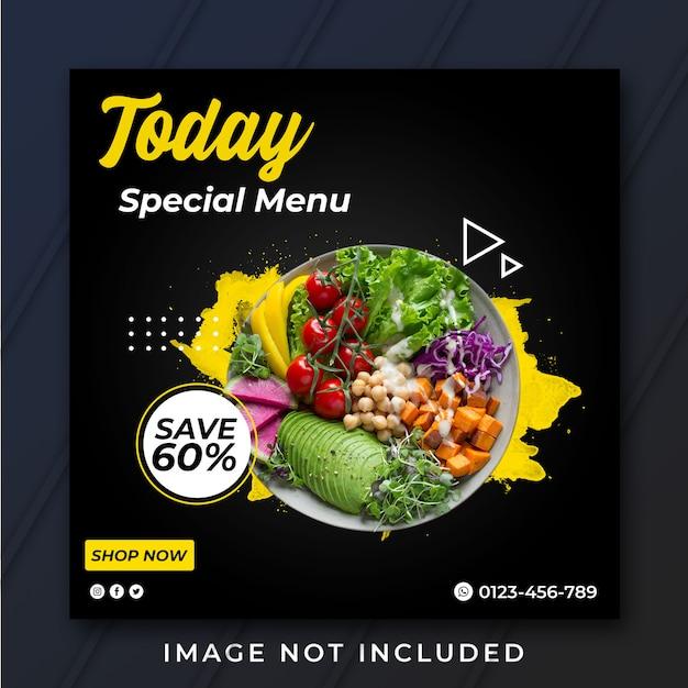 Vierkante speciale template van menubanner Premium Psd