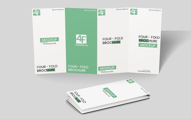 Viervoudig brochuremodel Premium Psd