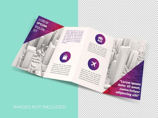 Viervoudige brochure mockup geïsoleerd Premium Psd