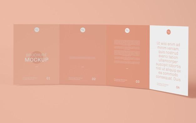 Viervoudige brochure mockup Premium Psd