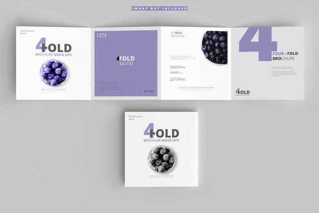 Viervoudige vierkante brochuremodellen Premium Psd