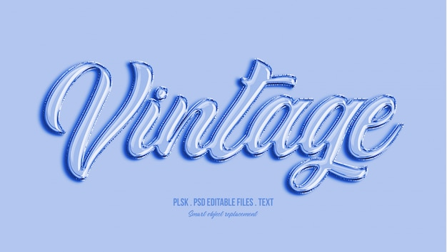 Vintage 3d tekststijl effect Premium Psd