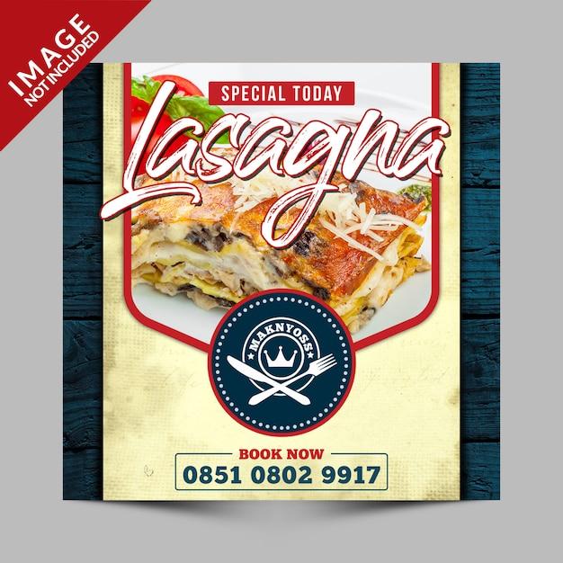Vintage special vandaag eten menu promotie Premium Psd
