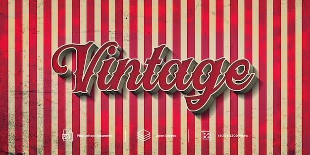 Vintage teksteffect Premium Psd