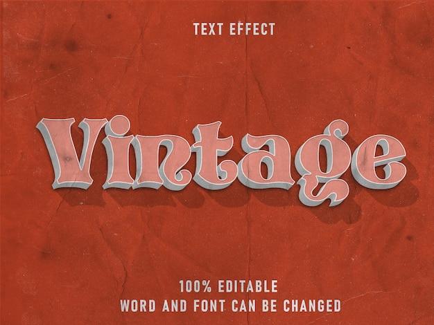 Vintage type tekststijl effect bewerkbare lettertype papierstructuur Premium Psd