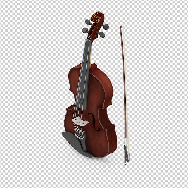 Violino isometrico Psd Premium