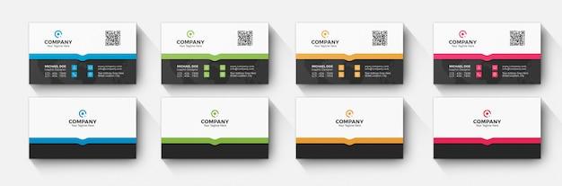 Visitekaartje 4 kleurvariatie Premium Psd