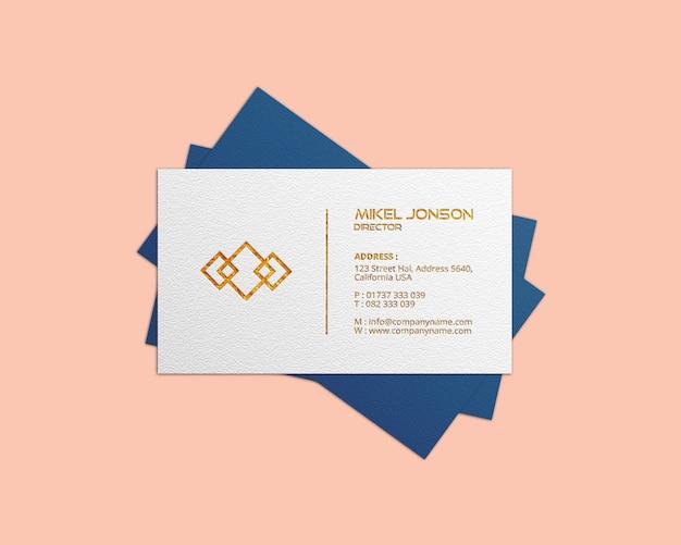 Visitekaartje logo mockup Premium Psd