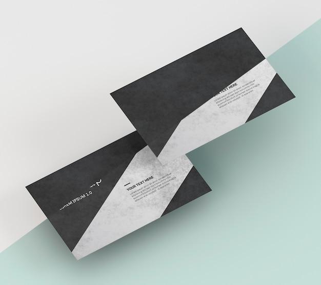 Visitekaartjesmodel met zwarte en grijze tinten Premium Psd