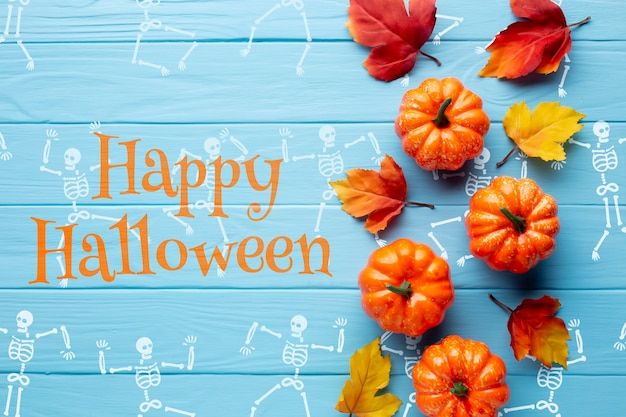 Vista della celebrazione del giorno di halloween Psd Gratuite