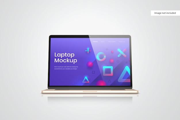 Vista frontale del mockup dello schermo del computer portatile Psd Premium