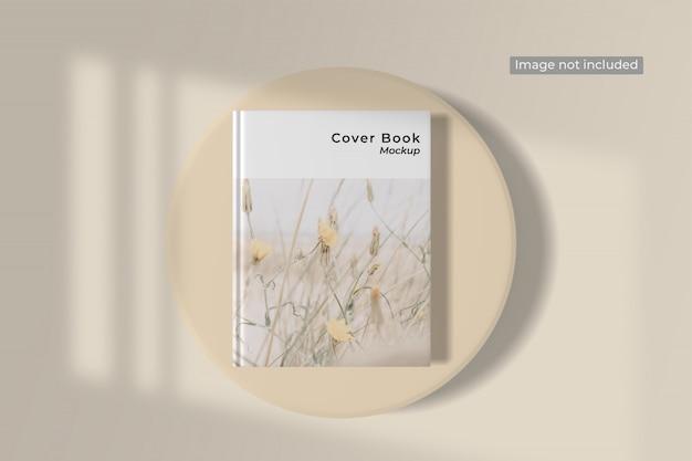 Vista superior de la maqueta de la portada del libro PSD Premium