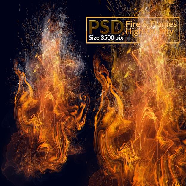 Vlammen van hoge kwaliteit Premium Psd