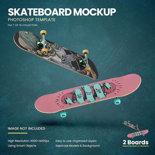 Vliegend skateboards mockup Premium Psd
