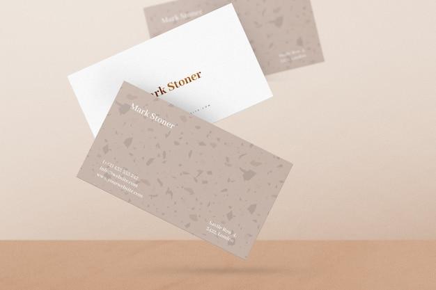 Vliegende visitekaartje mockup Premium Psd