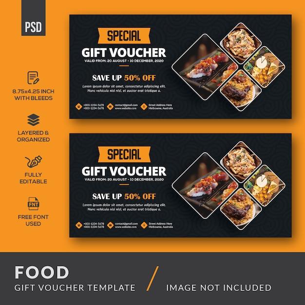 Voedsel cadeaubon Premium Psd