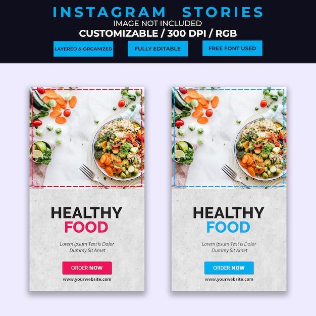 Voedsel instagram verhalen sjabloon Premium Psd